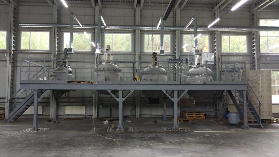 Система измерения веса и температуры в реакторе