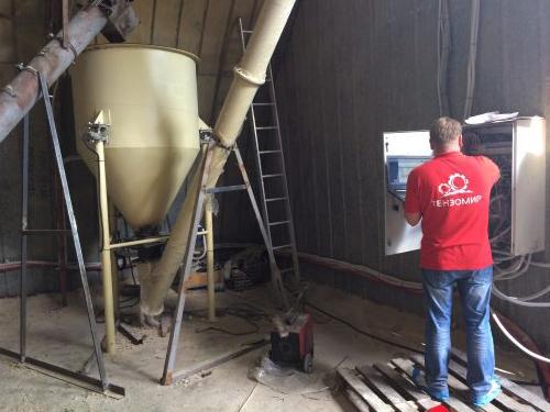 Автоматизация линии подготовки и транспортировки сухих кормов