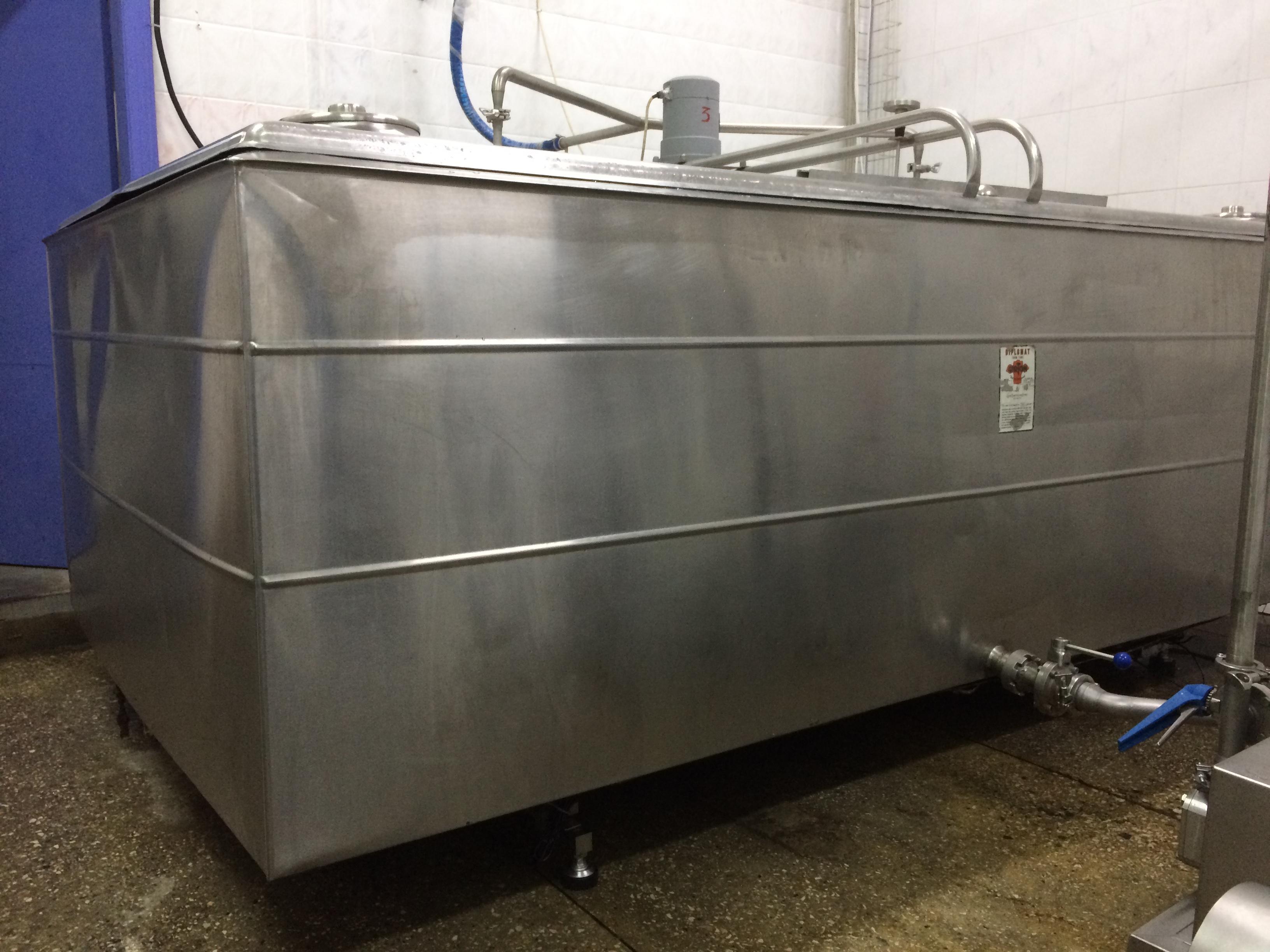 Система измерения веса танков охлаждения и подготовки мороженного к дозированию