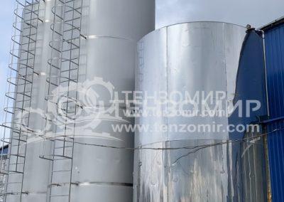 Система контроля уровня и температуры молока в танках 50 м3 и 30 м3