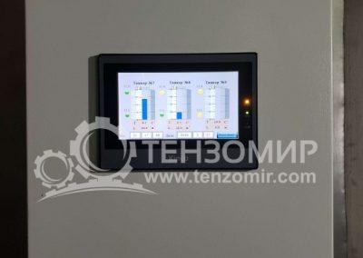 Система контроля уровня и температуры молока в танках 50 м3 и 30 м3 6