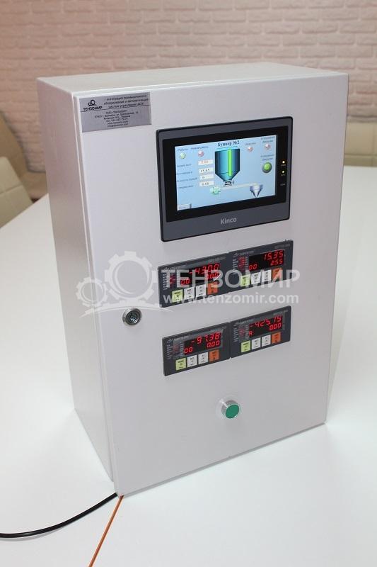 Пульт управління дозуванням інертних матеріалів з 4-х бункерів