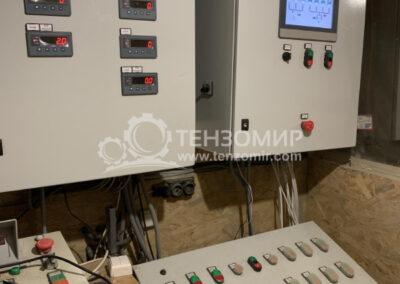 Система управления двух линий бетонно-смесительного комплекса советского образца